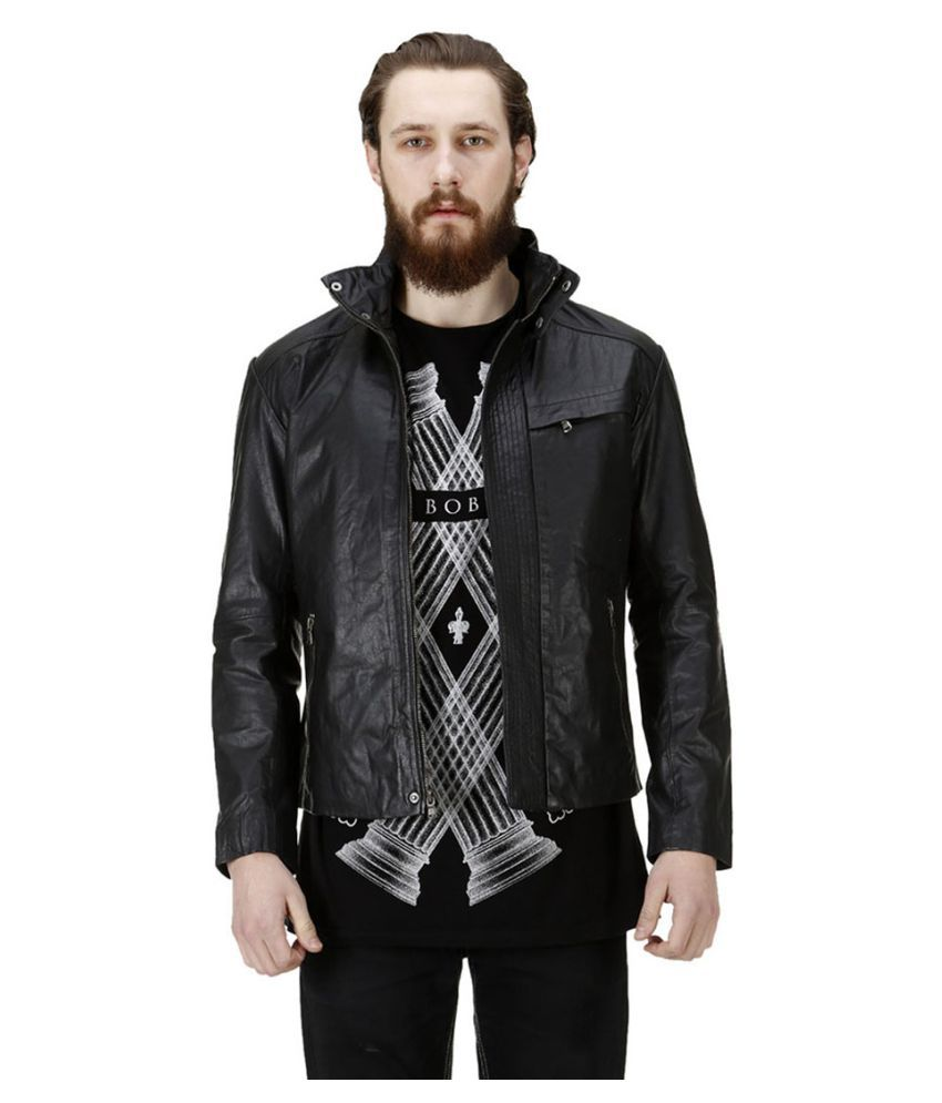 a656a06ceb0 Bareskin Black Leather Jacket - Buy Bareskin Black Leather Jacket Online at Best  Prices in India on Snapdeal