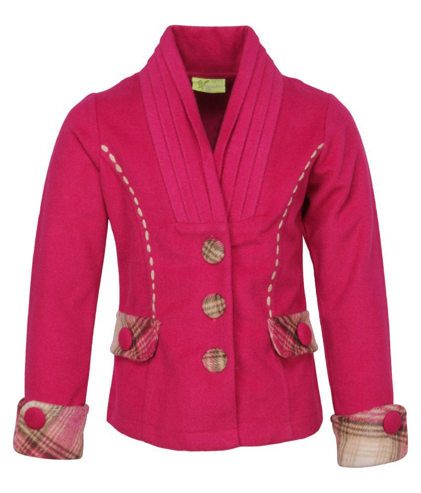 Cutecumber Girls Partywear Pink Coat