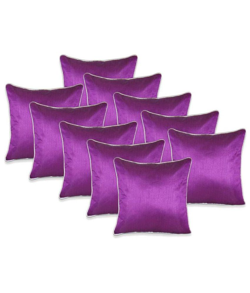 Sweet Home Set Of 10 Polyester Cushion Covers
