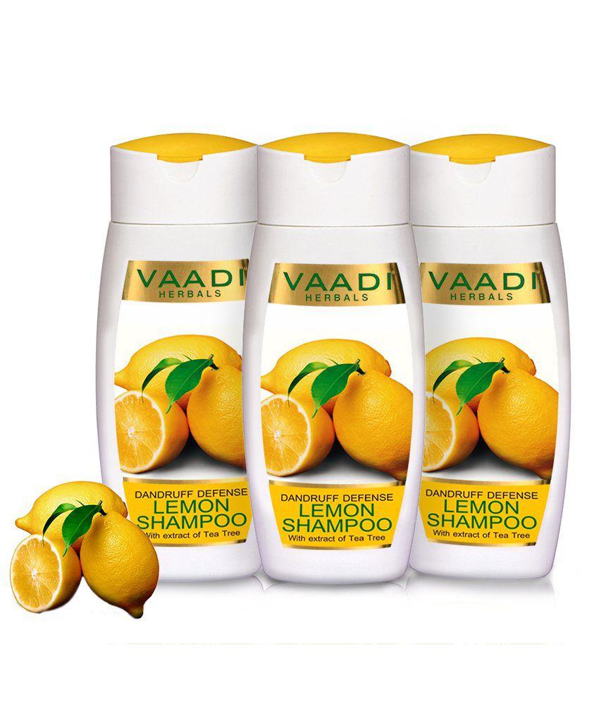 Vaadi Value Pack of 3 Dandruff Defense Lemon Shampoo With Extract of Tea Tree 110ml Each