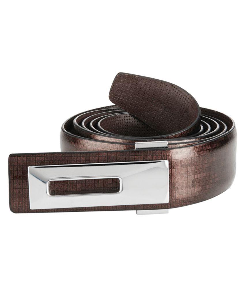 Park Avenue Brown Leather Formal Belts