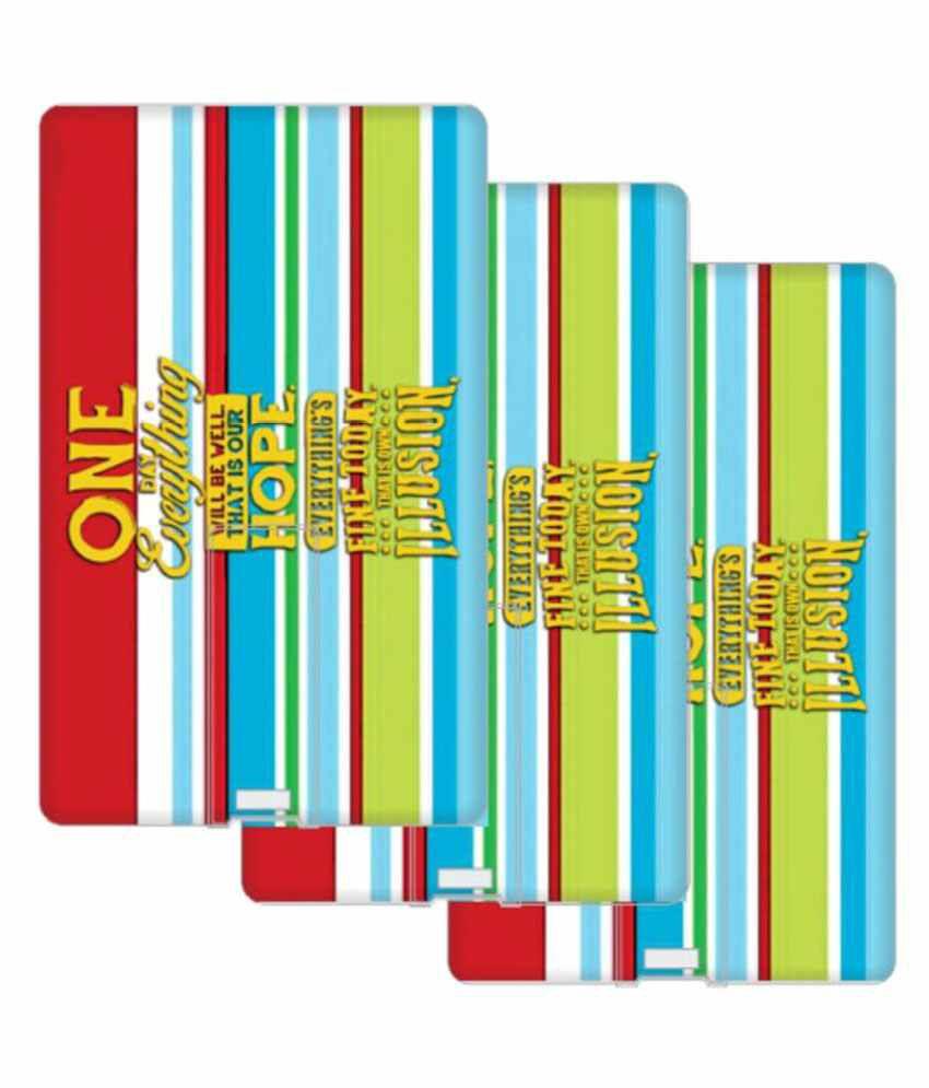 Design Worlds 16GB USB 2.0 Fancy Pendrive Multicolor - Set of 3