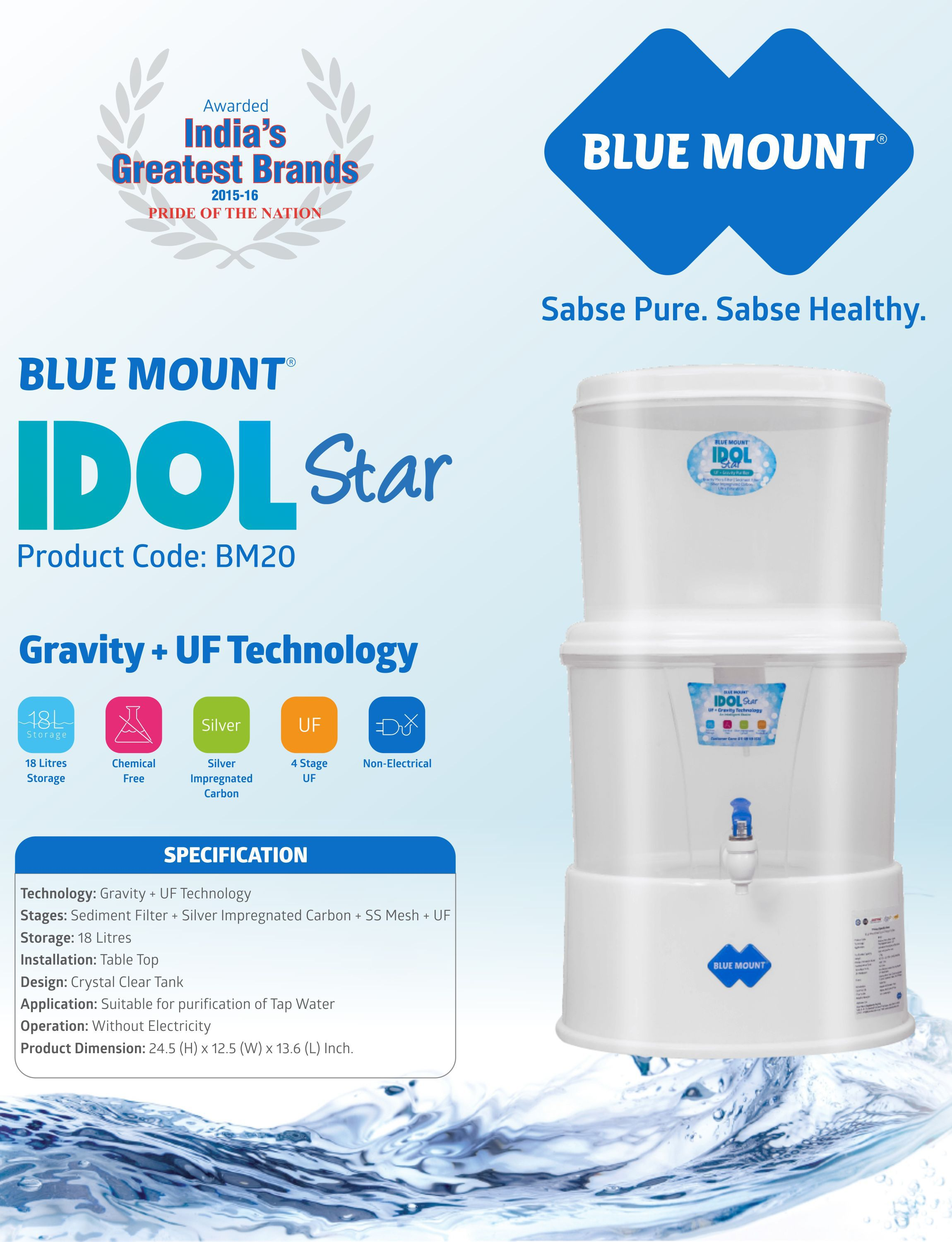 blue mount bm20 ro water purifier buy online best price snapdeal