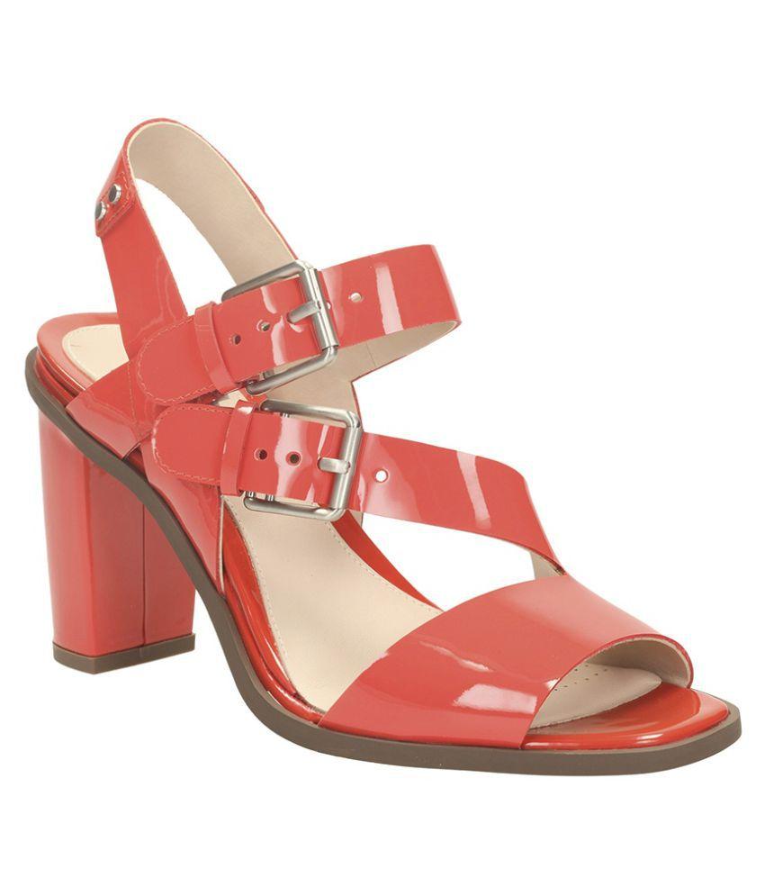 7de043bb65f Clarks Red Block Heels Price in India- Buy Clarks Red Block Heels Online at  Snapdeal