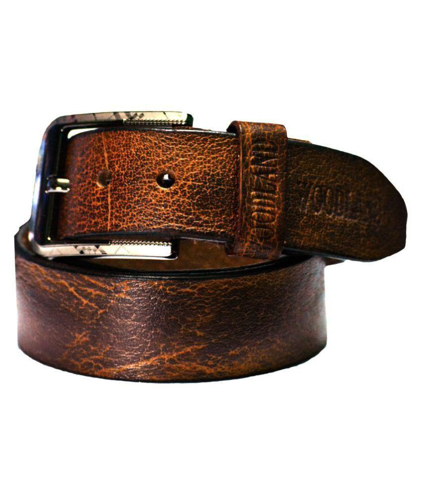 Woodland Pub Brown Leather Casual Belts