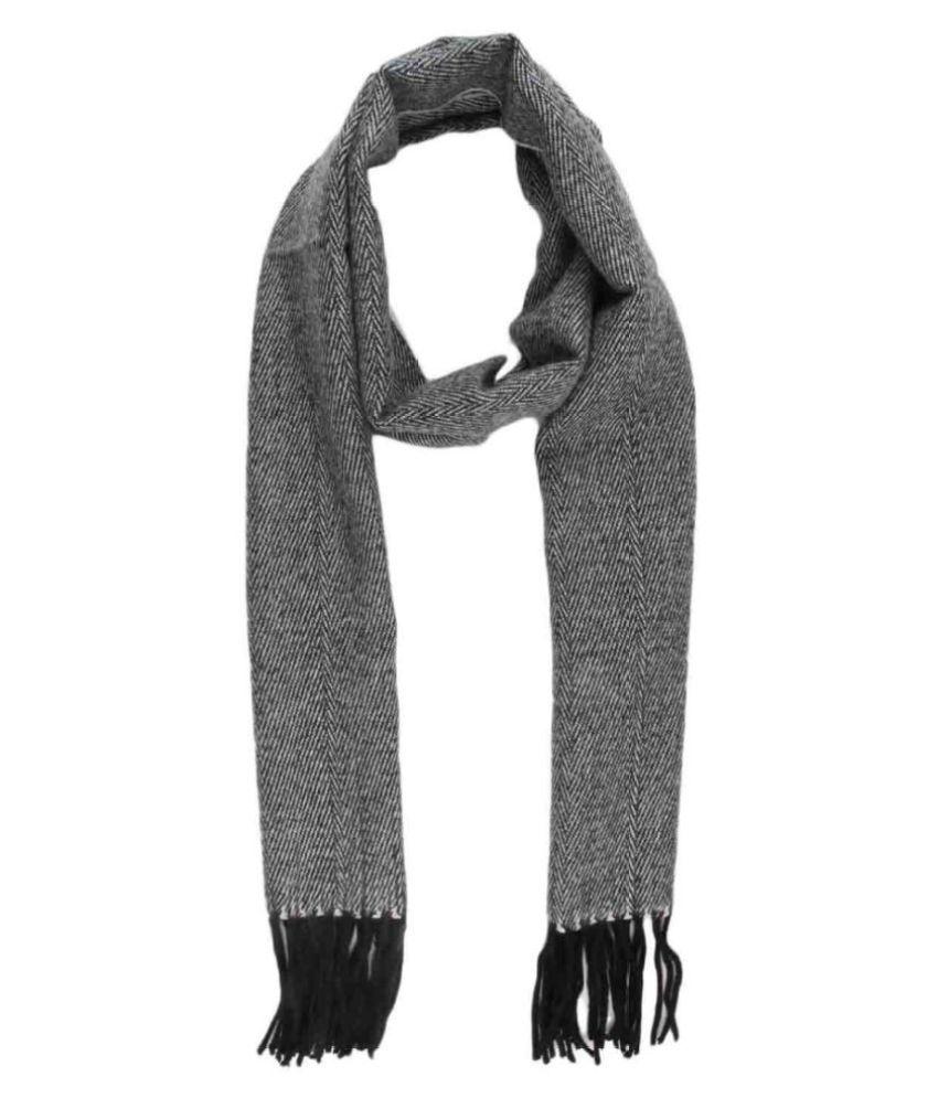 Lino Perros Gray Casual Scarves