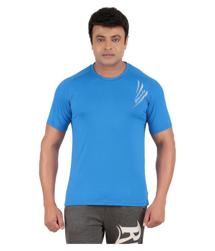 Ronnie Coleman Blue Polyester T Shirt