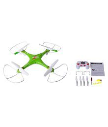 Taaza Garam LH-X10 LED Flashing Light 3D Flying 6 Channel RC Quadcopter Drone - Green