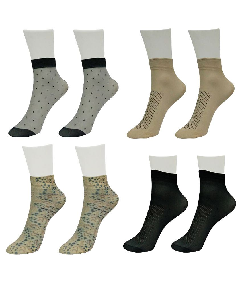 Gold Dust Unique Designer Patterns Socks (4 Pair)