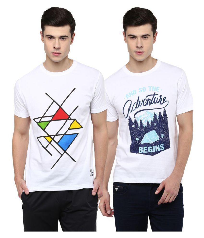 Wilderoo White Round T-Shirt Pack of 2