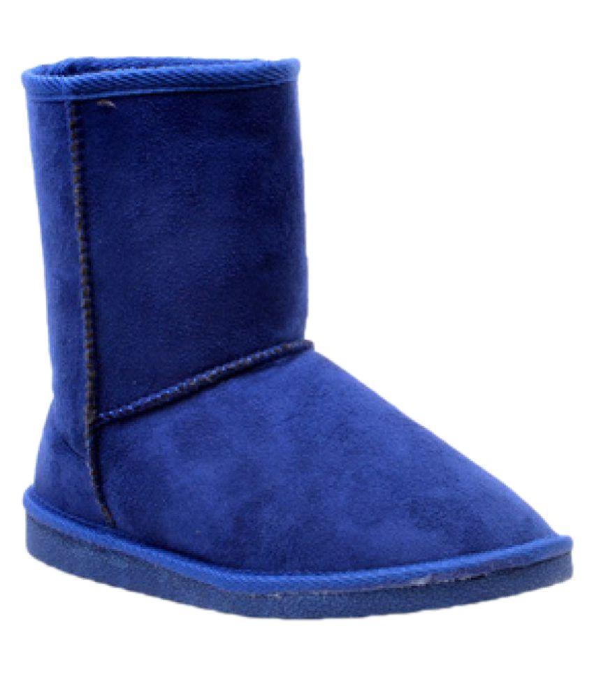 Carlton London Blue Mid Calf UGG Boots