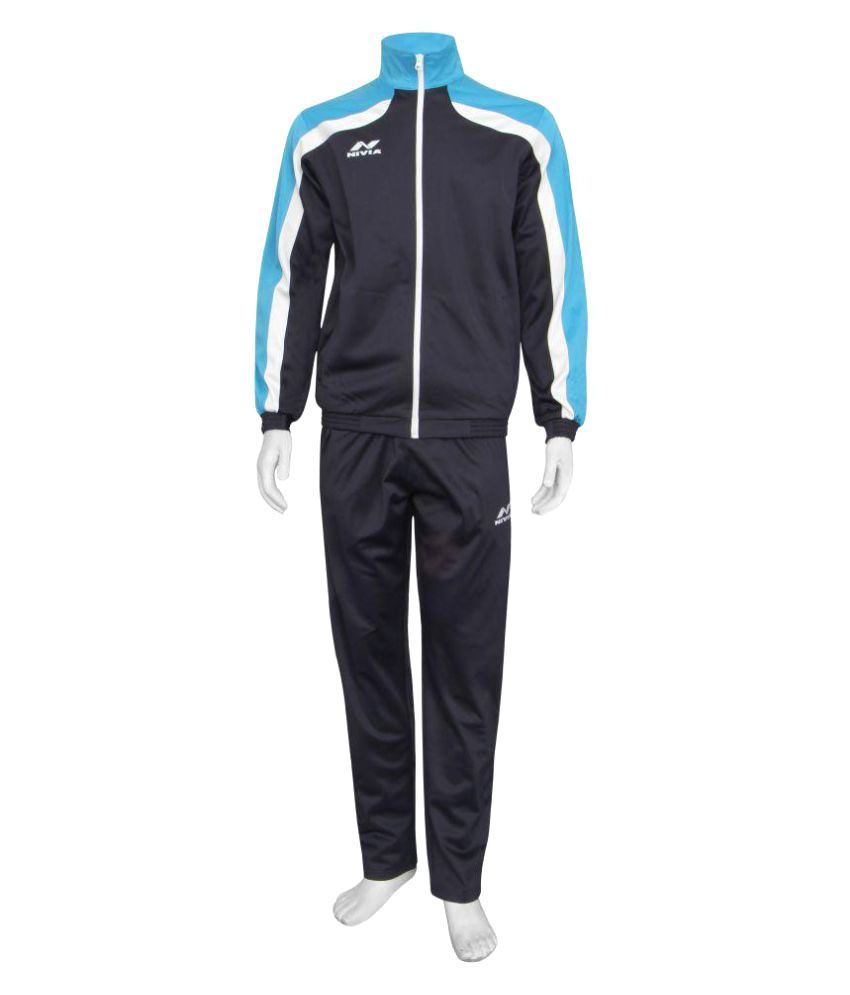 Nivia Blue Polyester Tracksuit Single-2405s4