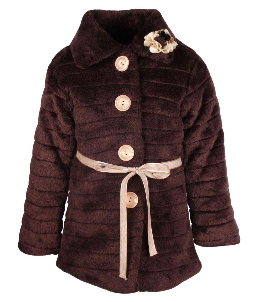 Cutecumber Brown Polyester Girls Jacket