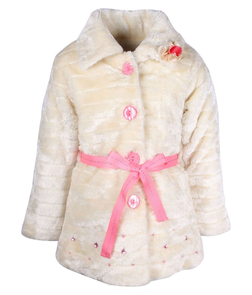 Cutecumber Cream Polyester Girls Jacket