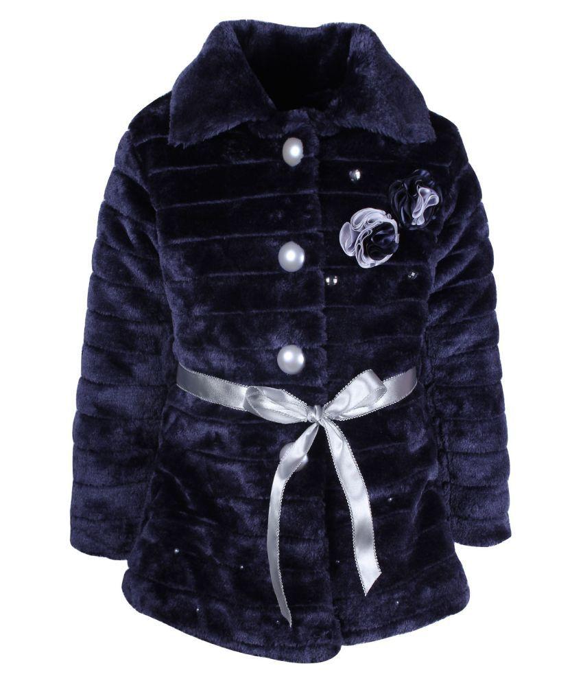Cutecumber Navy Polyester Girls Jacket