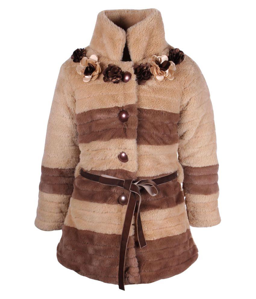 Cutecumber  Partywear Winter  Girls Beige Jacket
