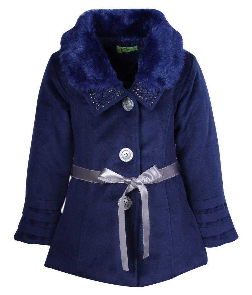 Cutecumber  Partywear Winter  Girls  Blue  Jacket