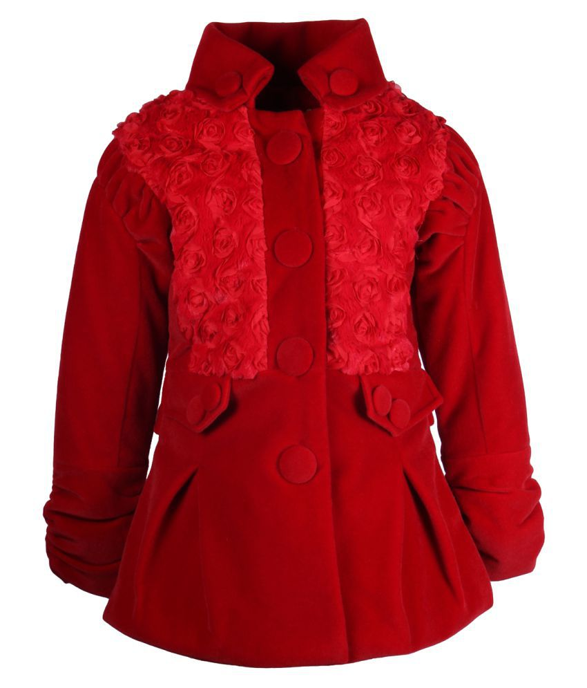 Cutecumber Red Knit Jacket for Girls