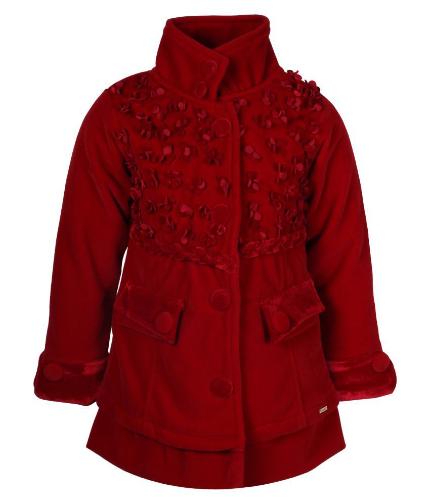 Cutecumber Red Polyester Coat