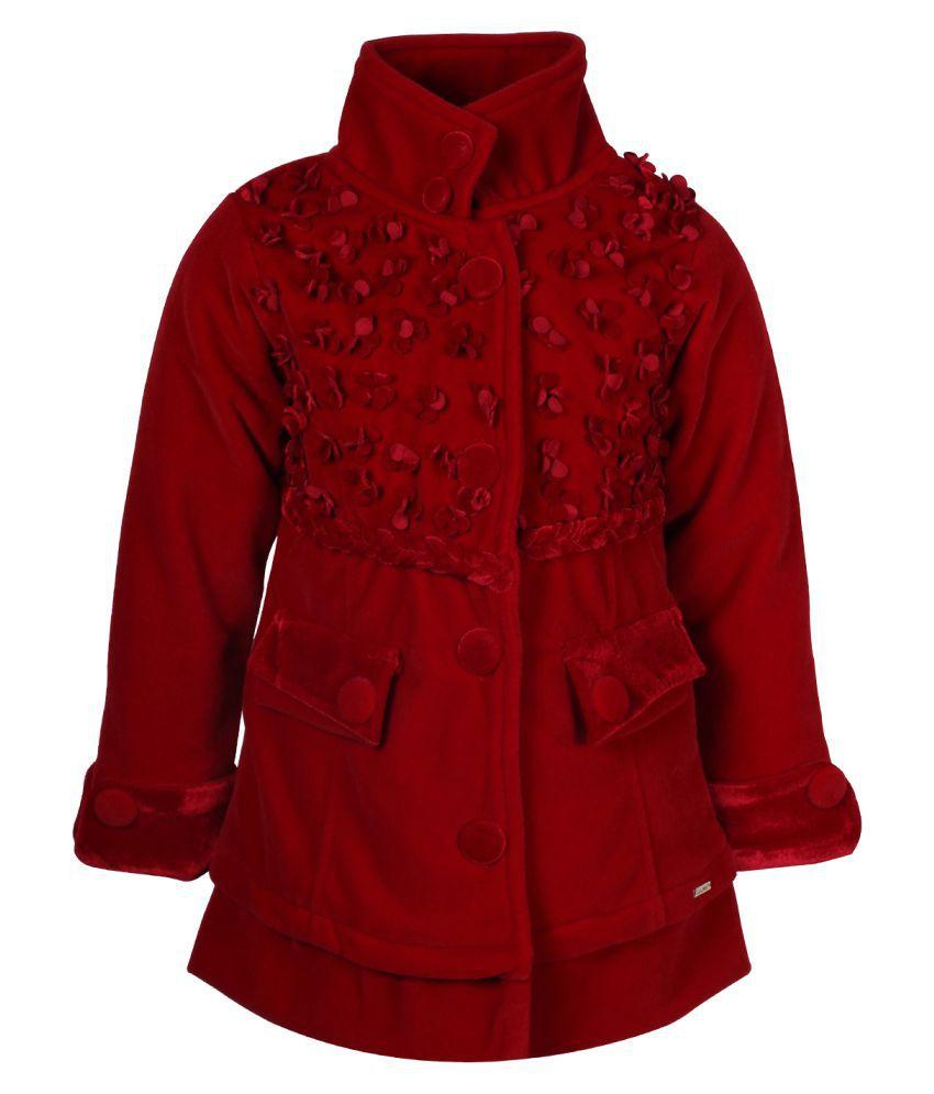 Cutecumber Red Polyester Coat