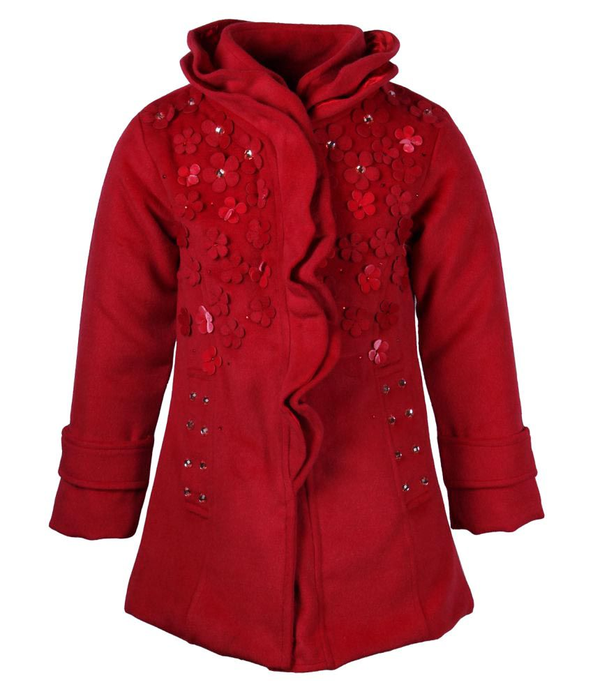 Cutecumber Red Polyester  Winter Coat