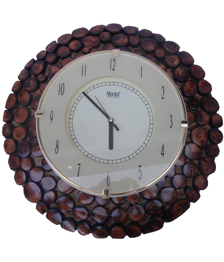 Ajanta Clock Circular Analog Wall Clock