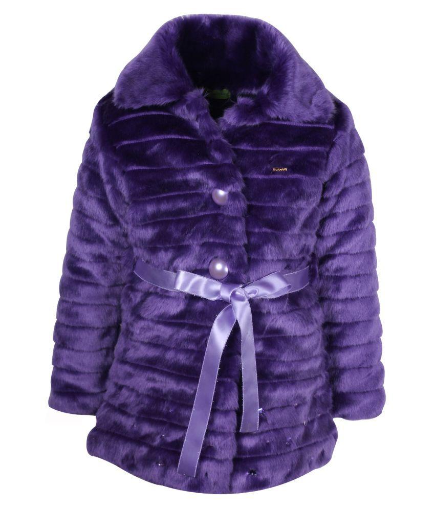 Cutecumber Purple Polyester Coat