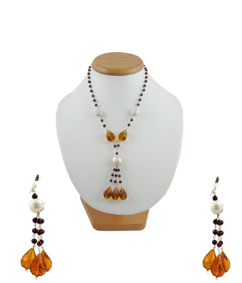 Factorywala 92.5 Silver Necklace Set