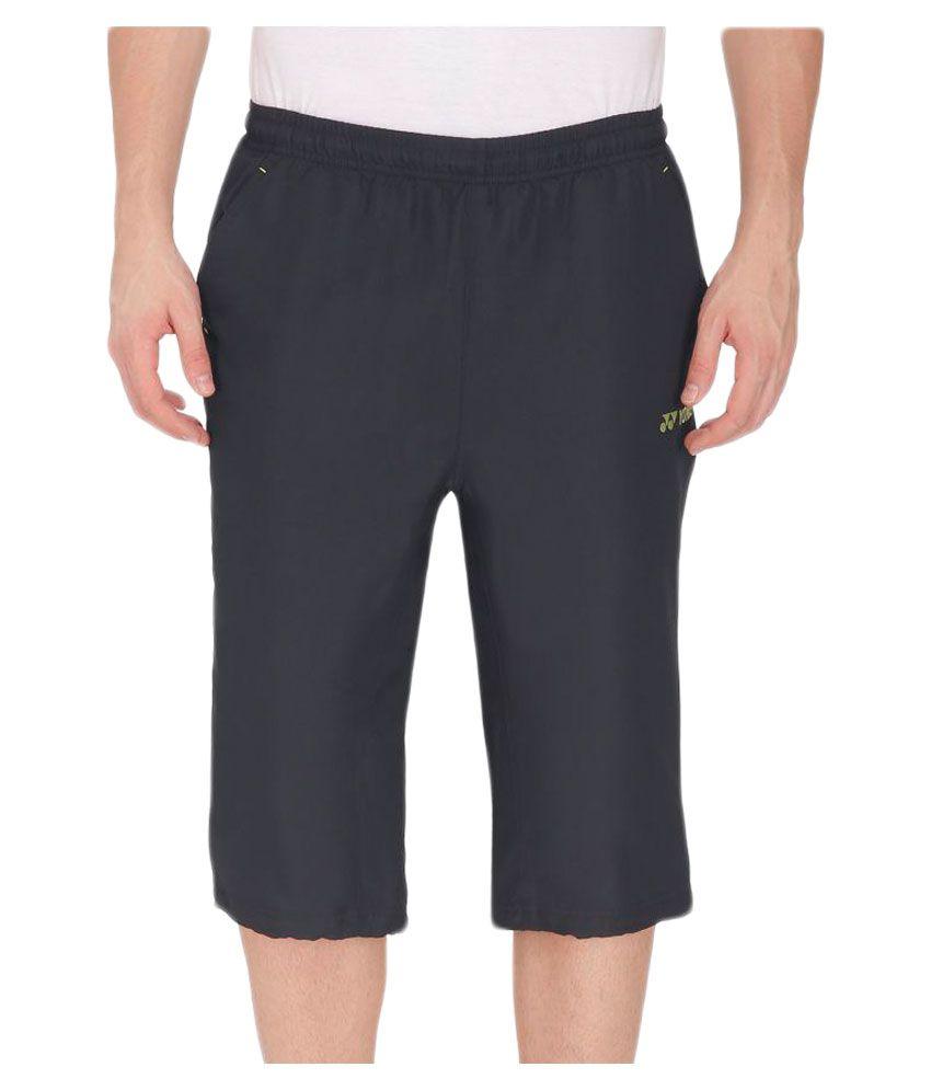 Yonex Black Polyester Capri