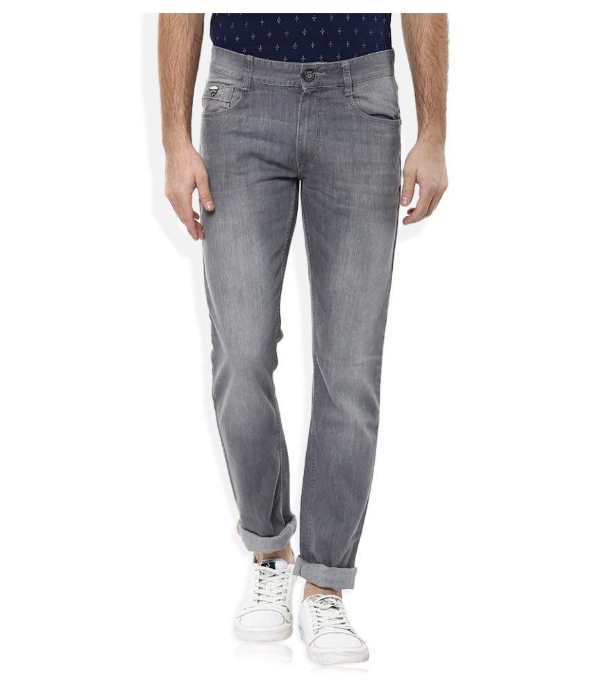 John Players Grey Slim Jeans