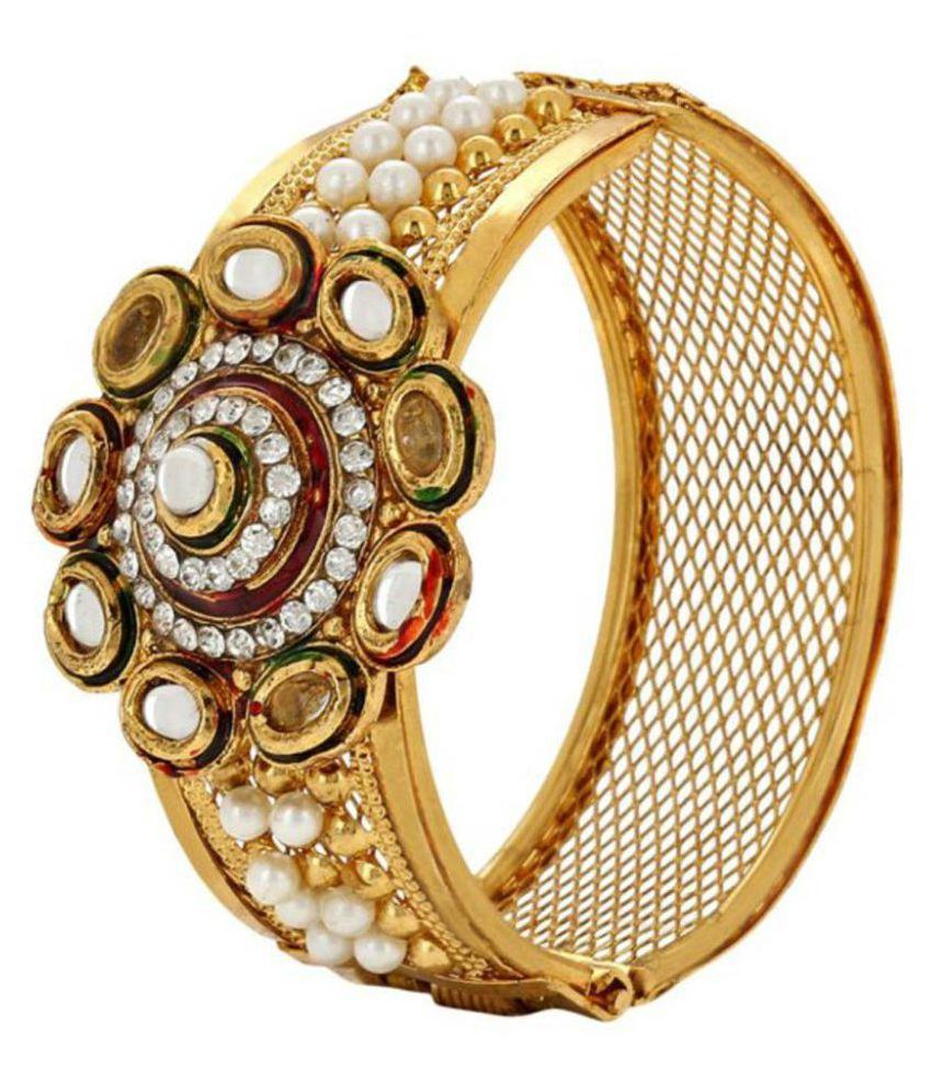 Jewels Gold American Diamond Gold Plated Cuff