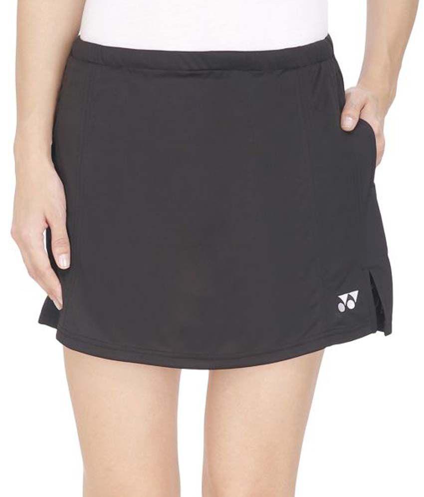Yonex Black Polyester Skirts