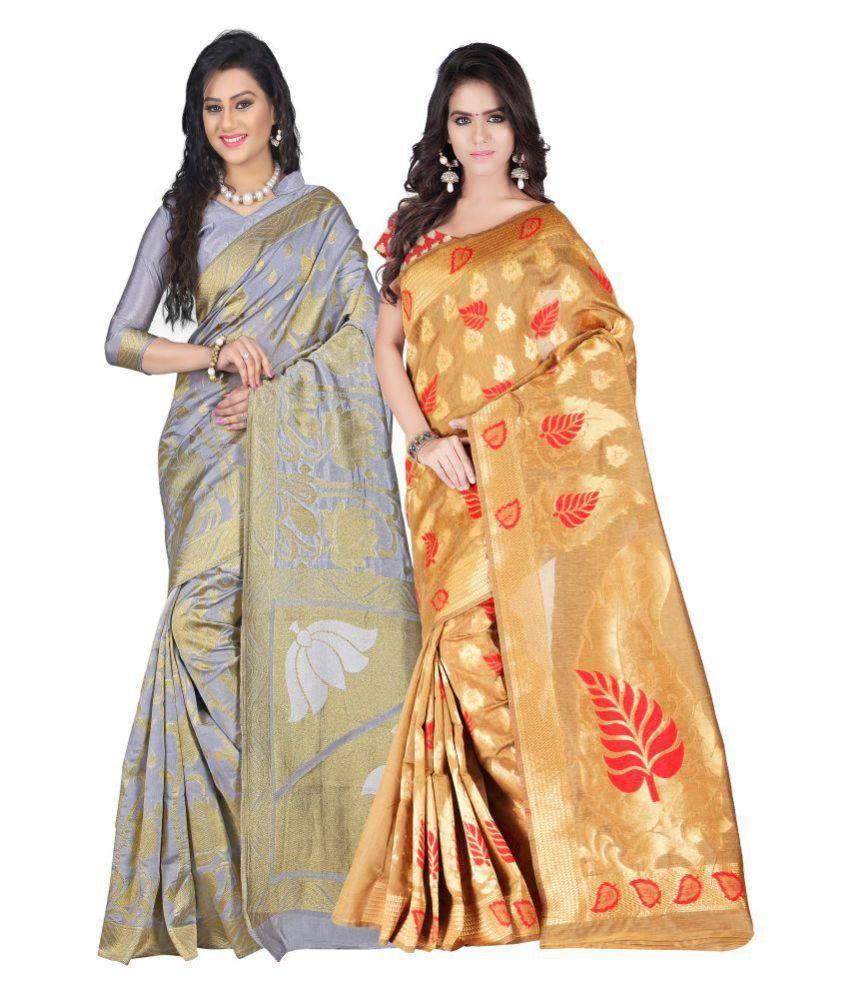 Weavedeal Multicoloured Art Silk Saree Combos