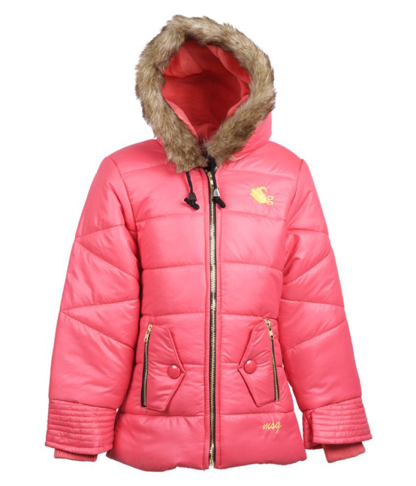 MSG Peach Jacket For Girl's Kids