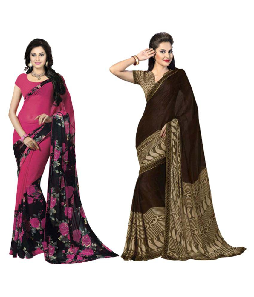 ESK Fashions Multicoloured Bhagalpuri Silk Saree Combos