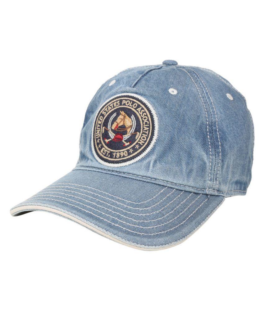 93a9d15b9 U.S. Polo Assn. Blue Printed Cotton Caps