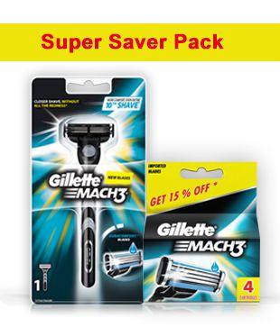 gillette mach3 razor 4 cartridges buy gillette mach3 razor 4 rh snapdeal com