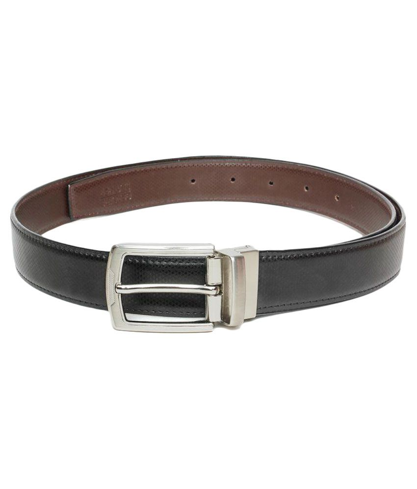 Regalia Black Faux Leather Formal Belts