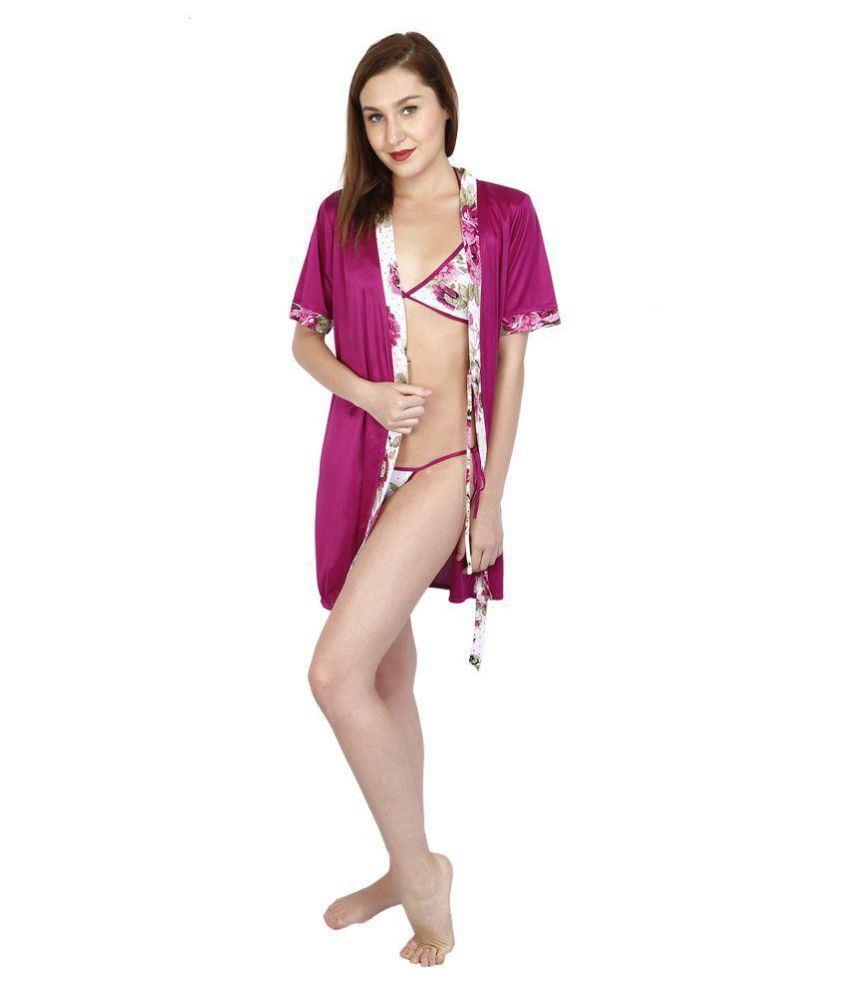 Bailey Satin Baby Doll Dresses With Panty