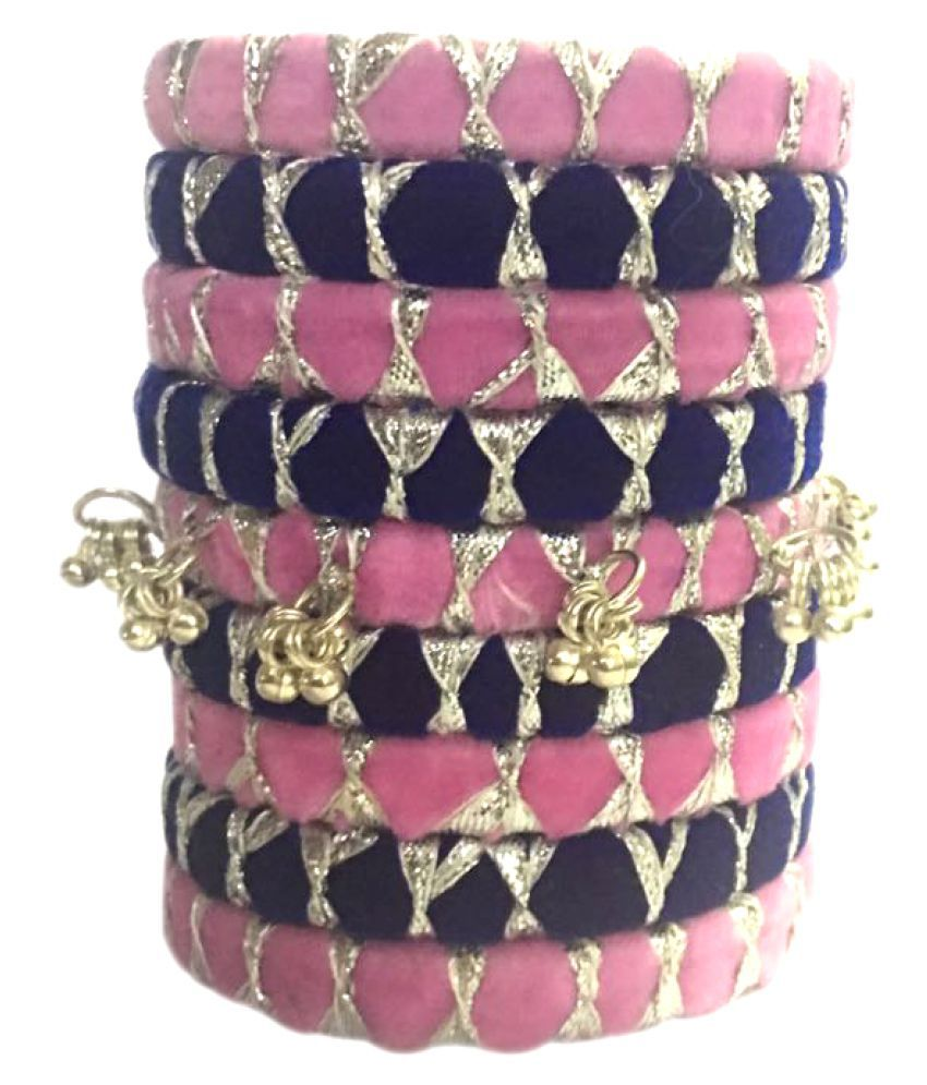 Kuhuk Multicolor Silk Thread Bangles Set