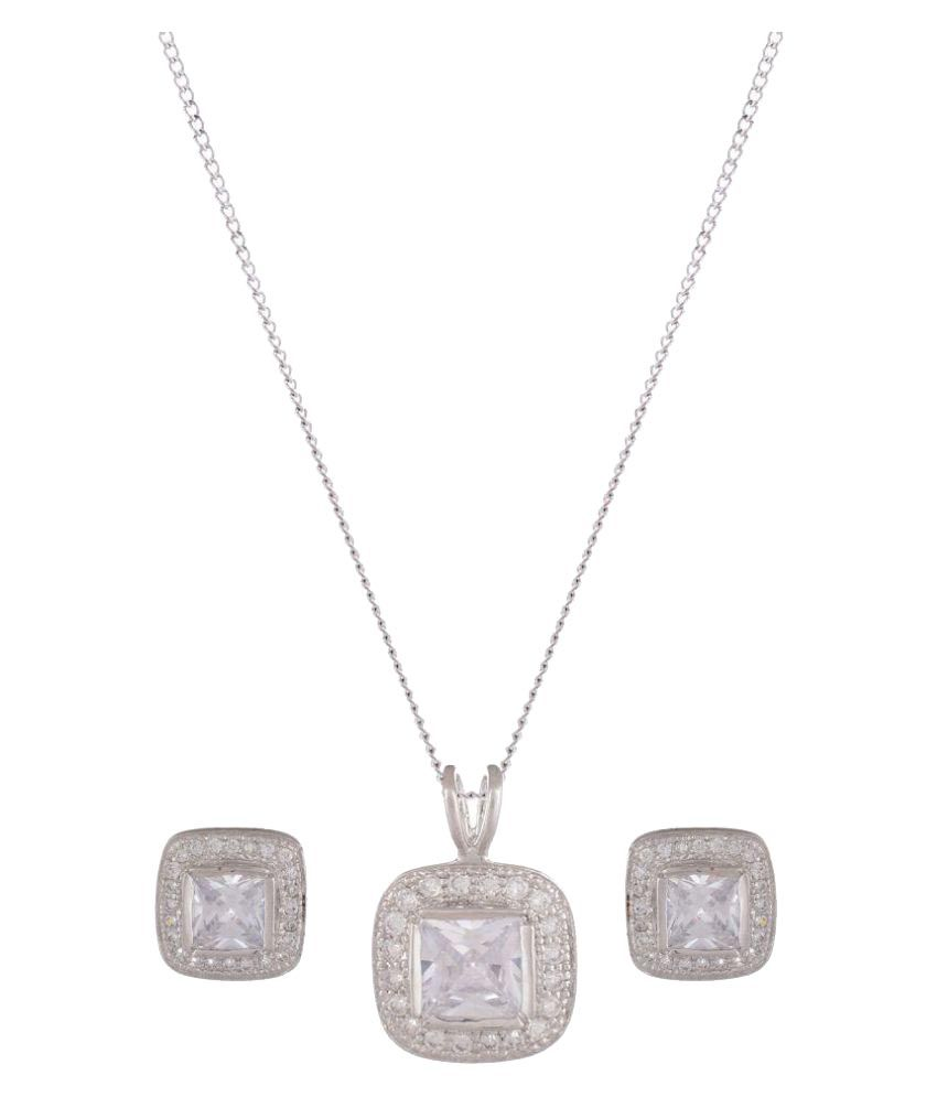 Sea Jewels 92.5 Silver Necklace Set