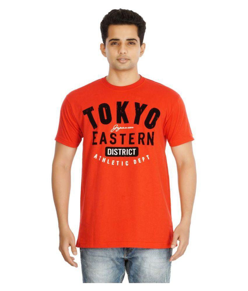 Yo Republic Orange Round T-Shirt