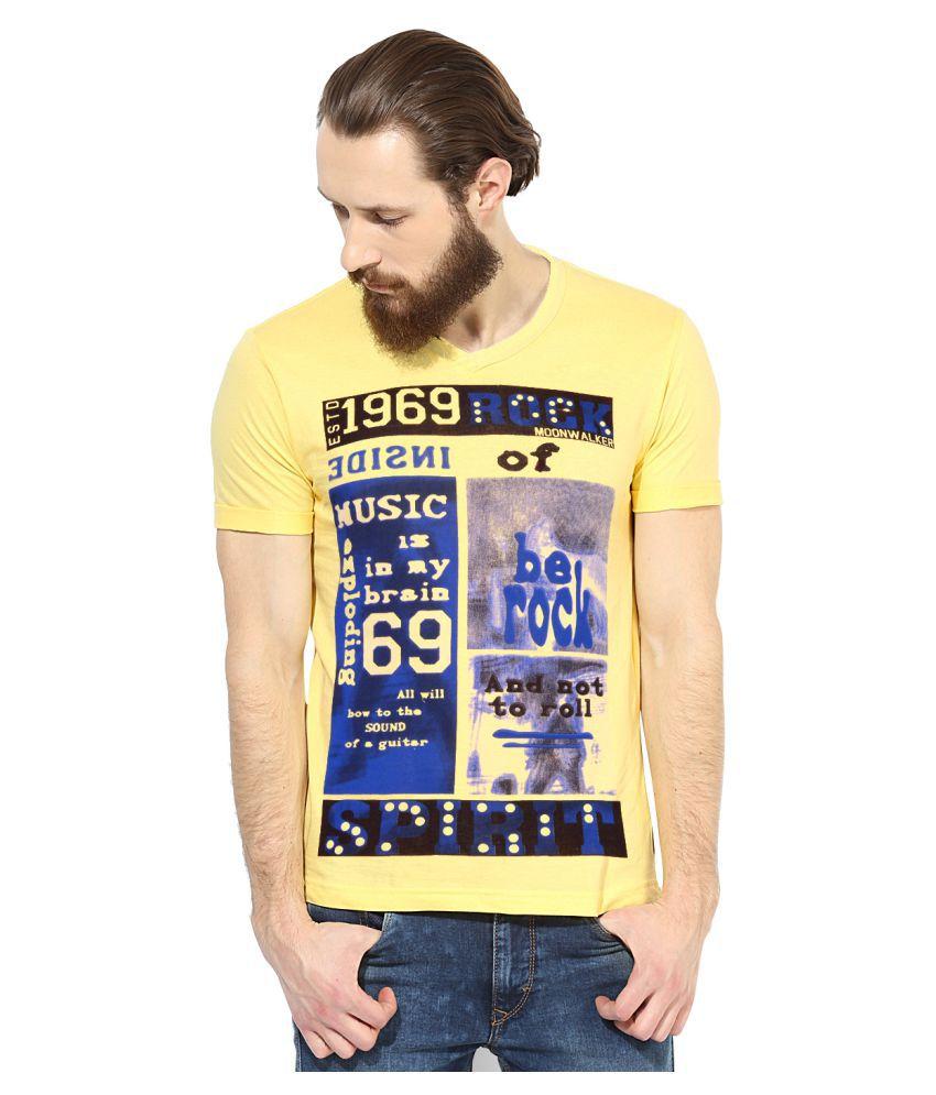 Moonwalker Yellow V-Neck T-Shirt