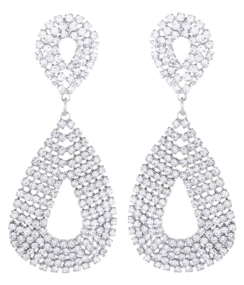 OSF Silver Alloy Hanging Earrings