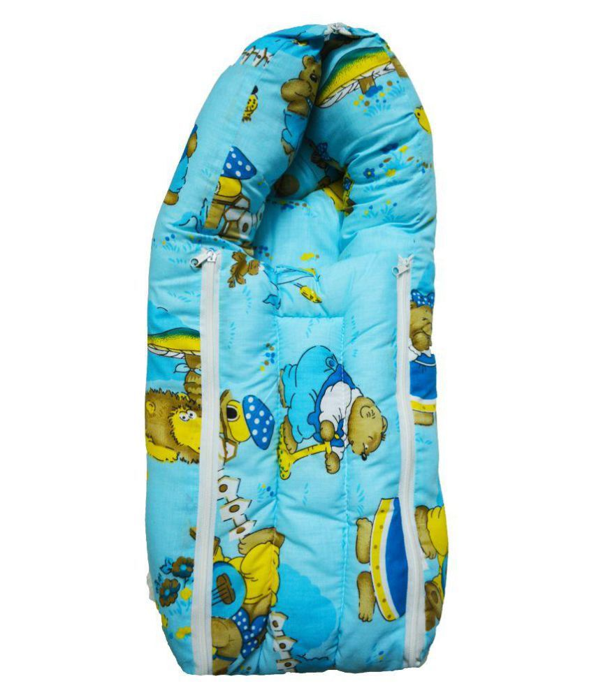 Brisa Blue Cotton Baby Sleeping Bag