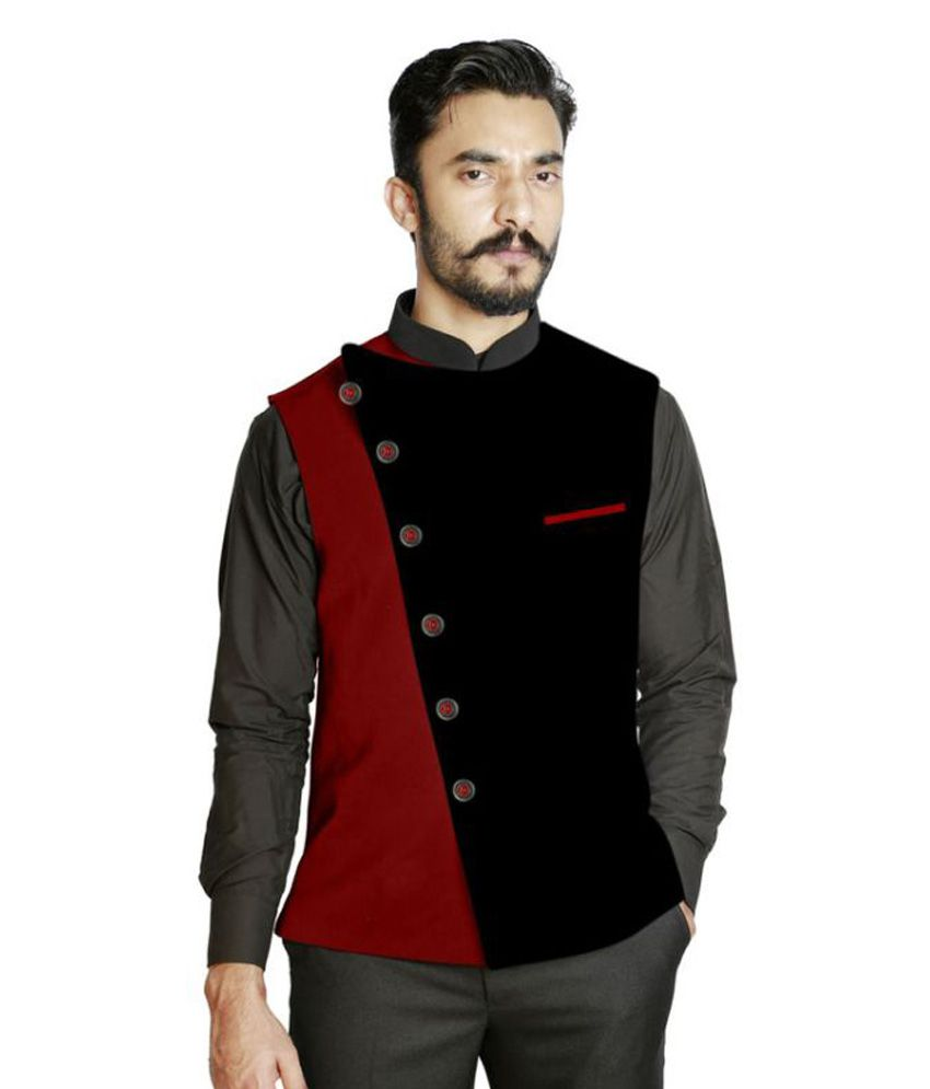 Fusion & Threads Multi Color Block Formal Waistcoats