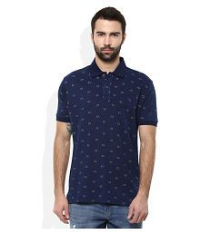 Wills Lifestyle Blue Slim Fit Polo T Shirt for sale  Delivered anywhere in India