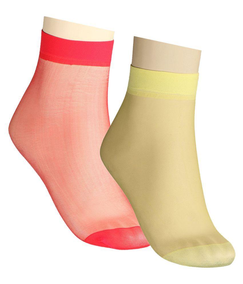 Fiha Multicolour Ankle Length Socks Pack of 2