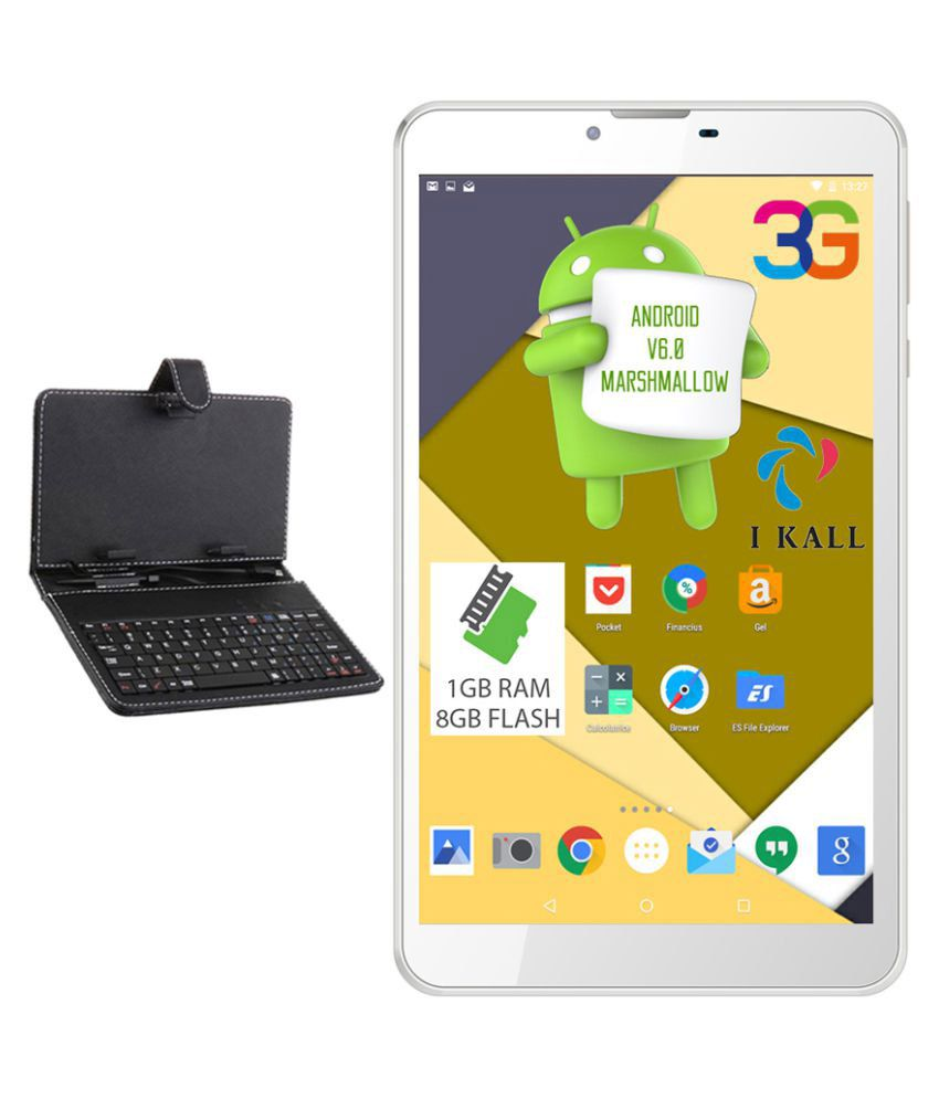 I Kall N9 with Keyboard White ( 3G + Wifi , Voice calling ) Snapdeal Rs. 3999.00
