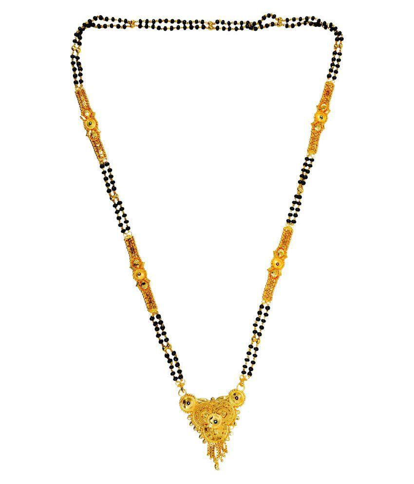Mansiyaorange Golden Colour Brass Mangalsutra